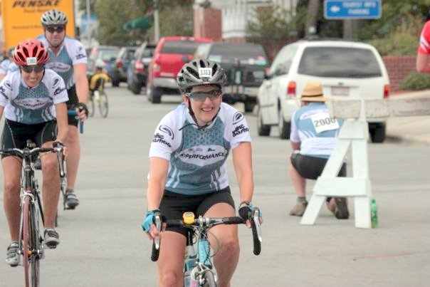 Susan at our local MS150 ride