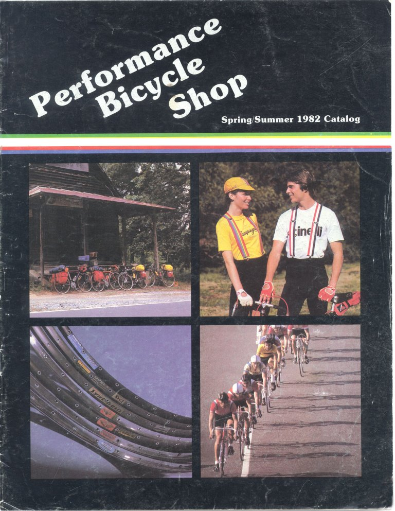 Performance Bicycle Shop first catalog