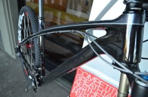 Detail of the 2014 Diamondback Overdrive Carbon Pro Mountain Bike