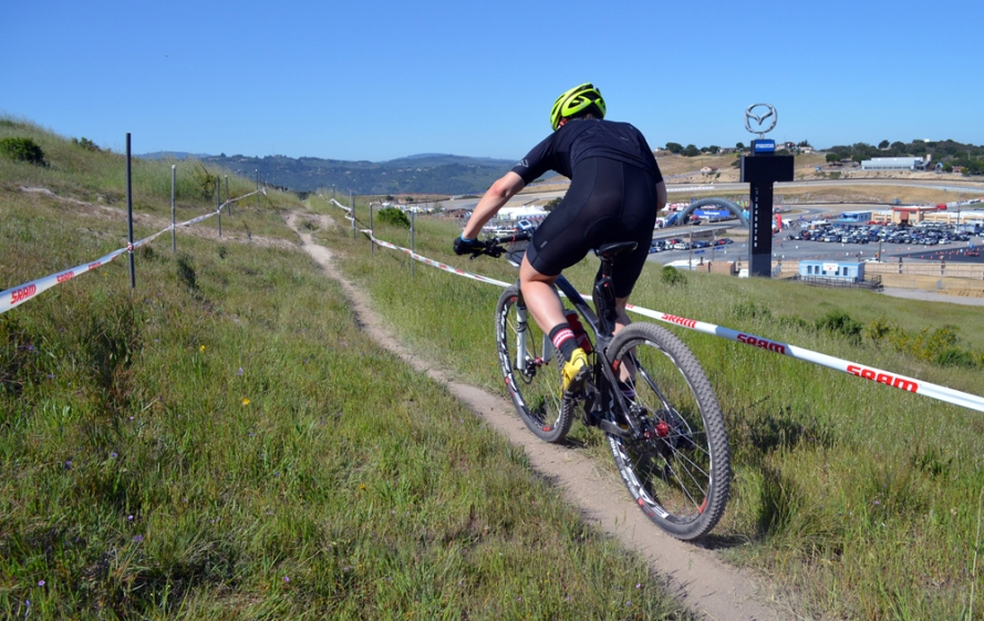 Racing the 2014 Diamondback Overdrive Carbon Pro Mountain Bike at Sea Otter
