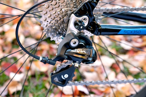 Shimano shifting components deliver crisp, snappy shifting