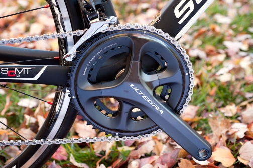 The distinctive 4-arm crank design sets Ultegra 6800 apart from the crowd
