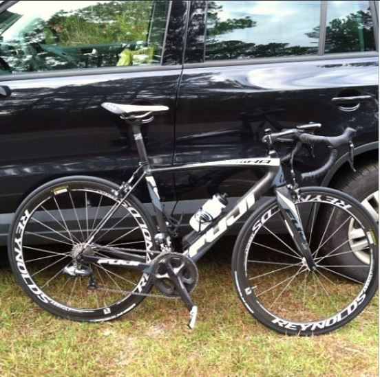 Getting ready to climb, here are the new Assault Limited on a Fuji Altamira test bike