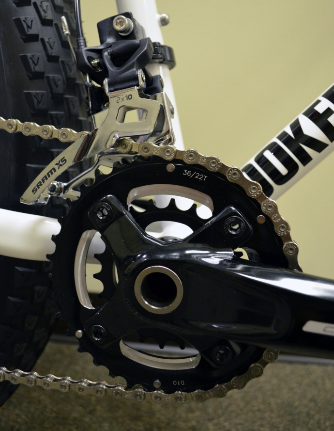 Plenty of gearing range on the crankset