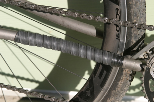 Ta-da! Now your chain is protected and you can feel good about recycling that old flat tube.