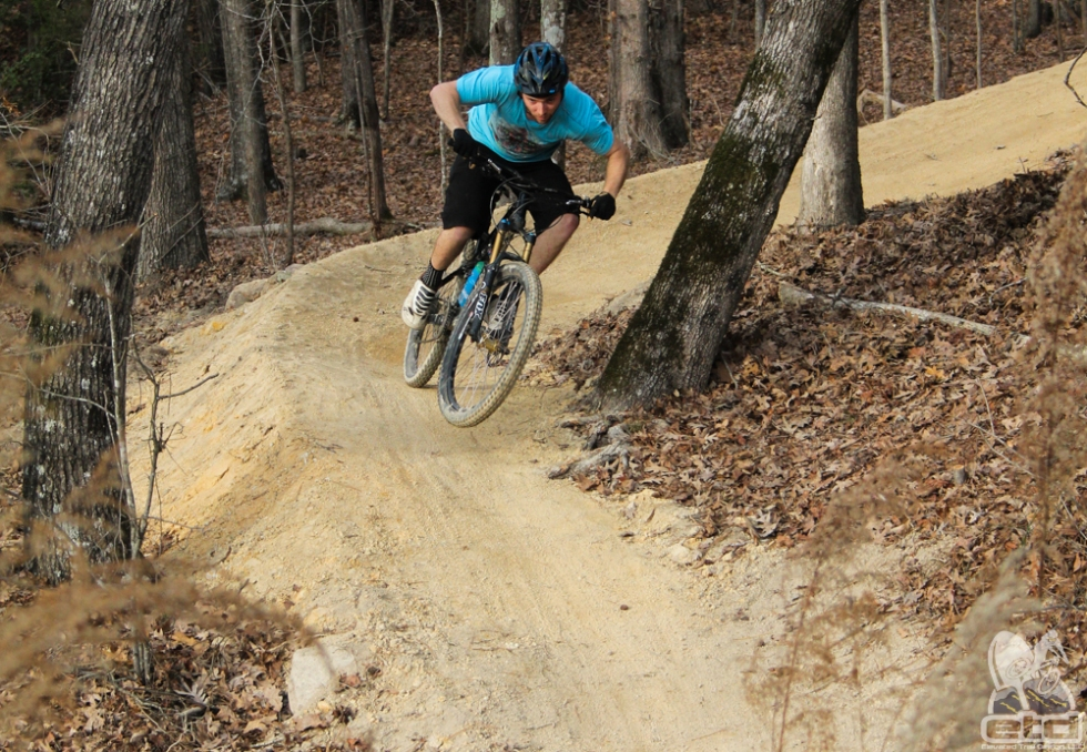 Andrew riding the new trails at Briar Chapel