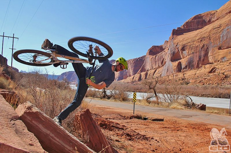 Peter having fun in Moab, Utah