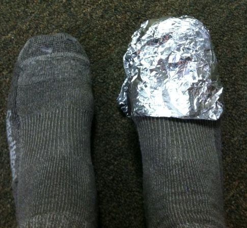 Yes, the foil wrap looks a little goofy. But you'll have the last laugh when you can still feel your toes.