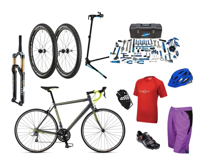 Alicia's mountain bike, home shop & road training upgrades