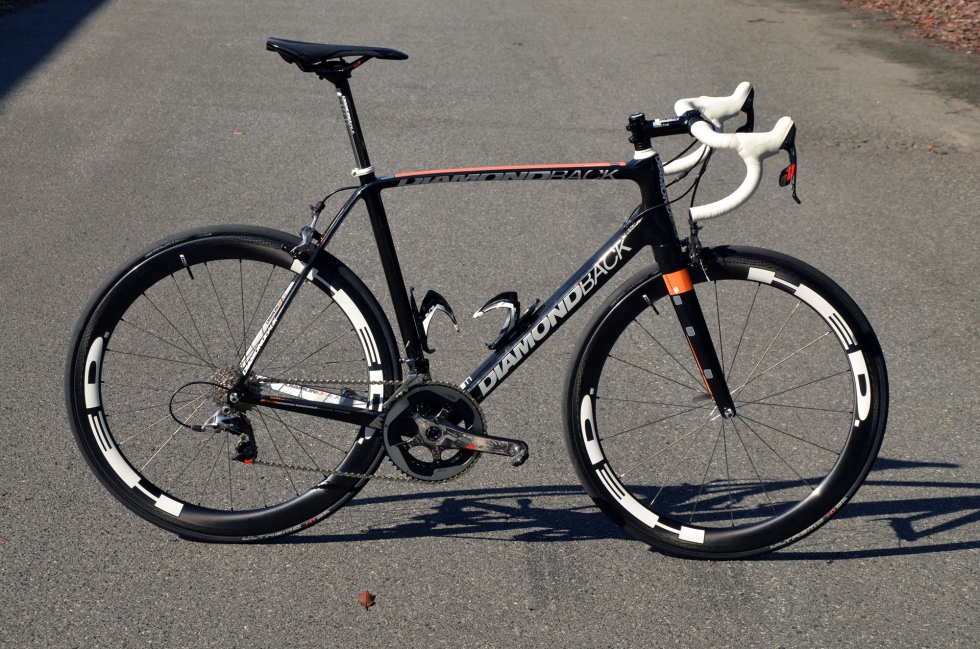 Painted in team livery colors, hung with SRAM Red 22 and rolling on HED wheels, this is one serious machine