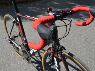SRAM Red 22 shifters and a full carbon cockpit help shed some serious weight
