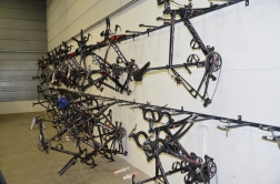 Bike storage racks - most of the bikes were at races