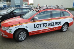 Lotto Belisol Skoda team car