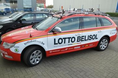 Lotto Belisol Skoda team car