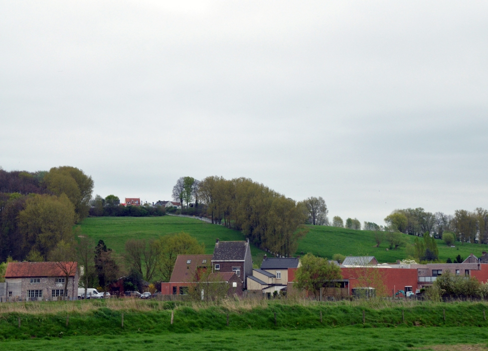 View of the famed Koppenberg from afar