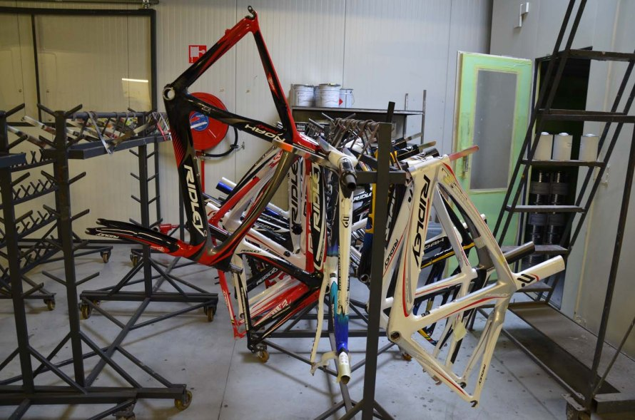 Bikes await assembly