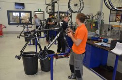 Ridley employs a handful of highly trained mechanics who assemble every bike by hand