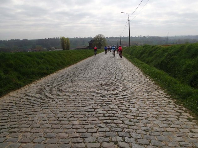 We spent several afternoons riding cobbled farm roads to get ready for the Sportif