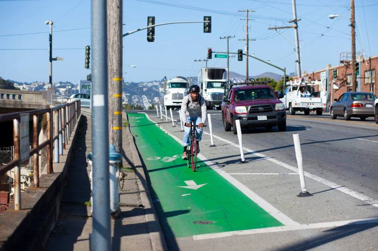 Protected bike lanes are a major initiative for PeopleForBikes