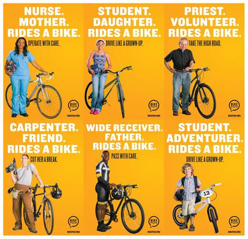 PeopleForBikes has worked with municipalities all over the country to improve the visibility of bike riders
