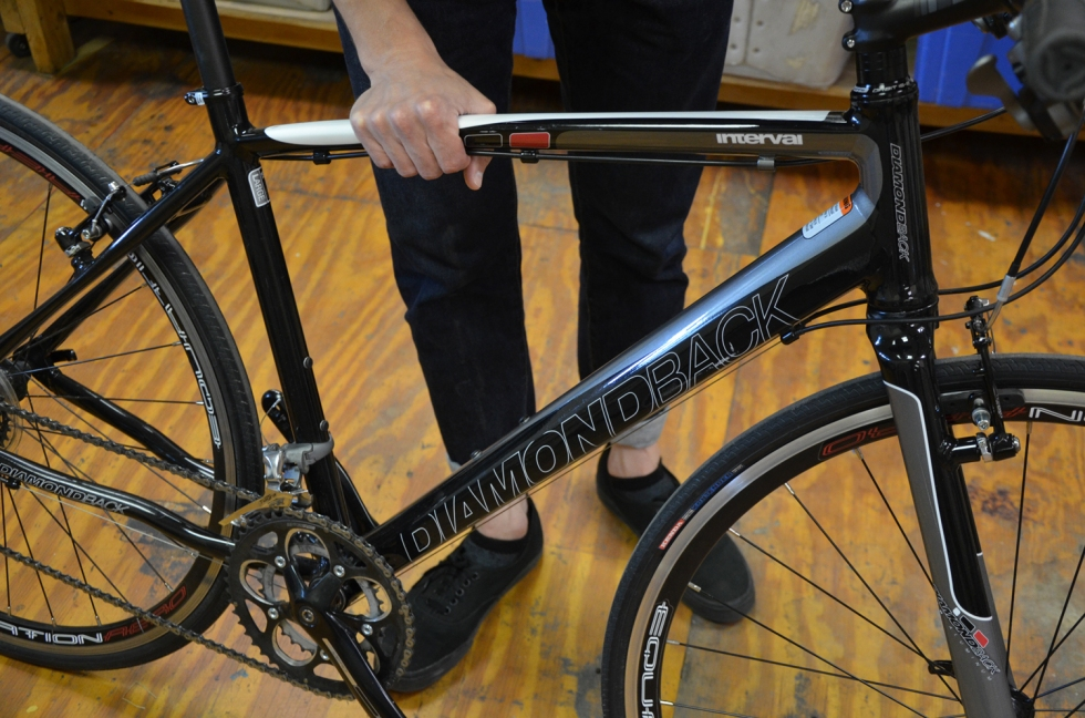 If you feel your frame flexing or observe any cracks, stop riding immediately