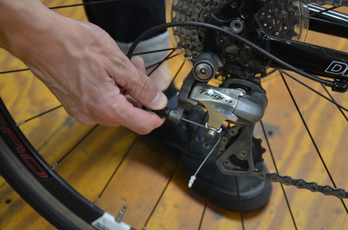 If your derailleur isn't shifting correctly, adjust the cable tension using the barrel adjuster