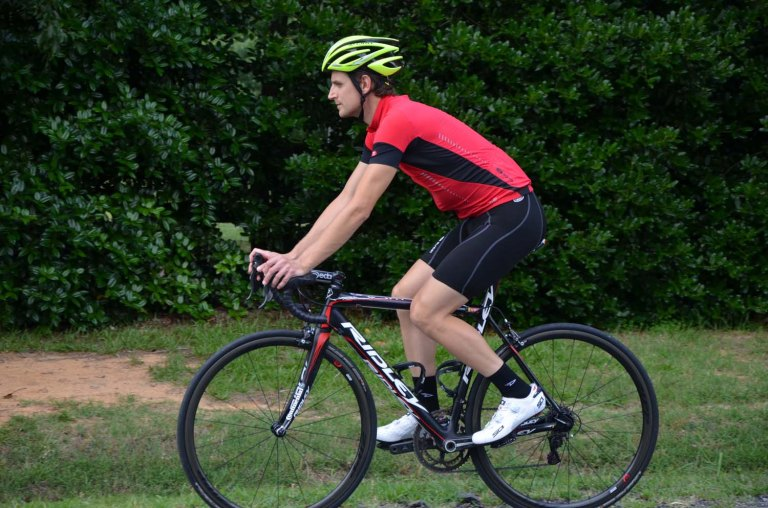The Sugoi RS Ice jersey and RP bib shorts are excellent for hot days
