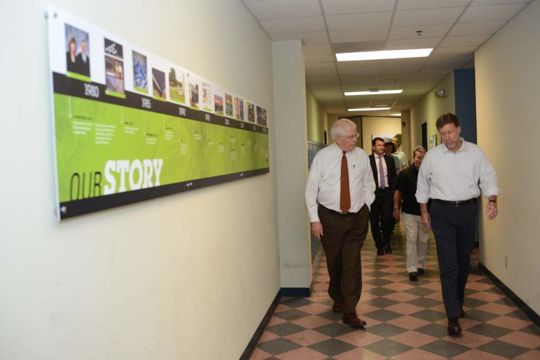 U.S. Rep David Price and our CEO tour the Performance offices