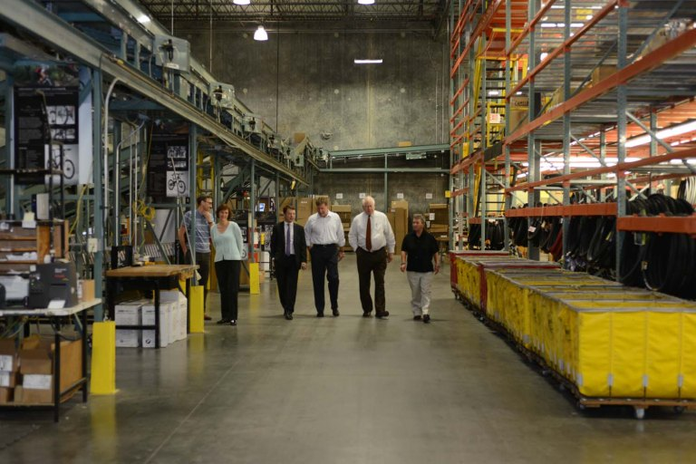 Rep. Price touring our warehouse
