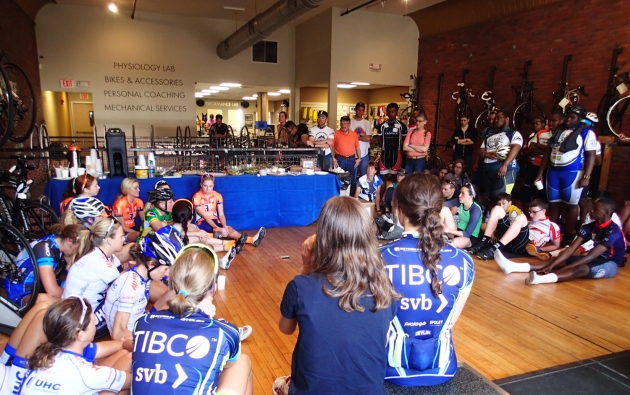 Q+A session with top female pros at the Philly Cycling Classic