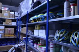 Spare helmets, nutrition, pedals and more