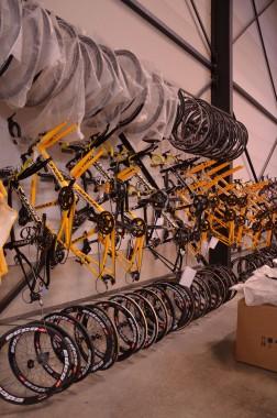 Team bikes and wheels