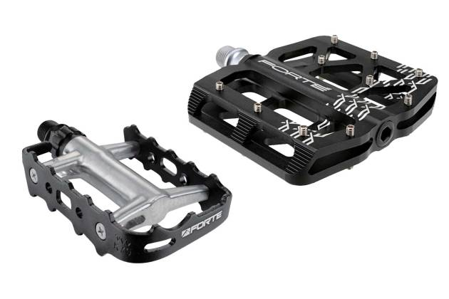 A good pair of platform pedals, like these pictured, can help make pedaling more comfortable