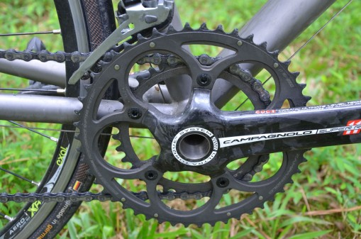 Compact crankset will give Brian an easier gear for spinning up the hills
