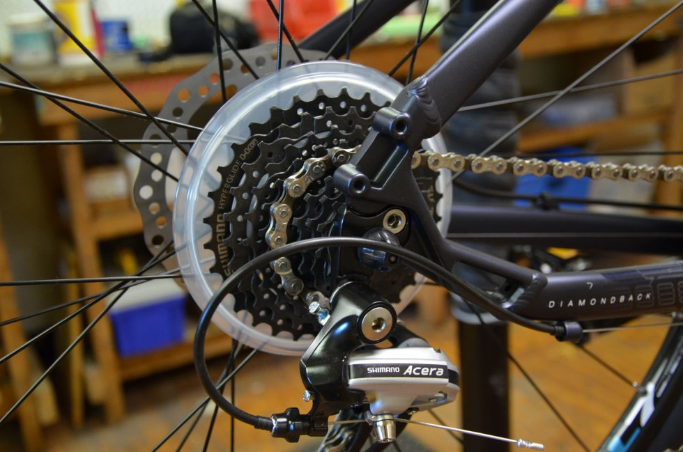 Skipping noises come from a poorly adjusted rear derailleur