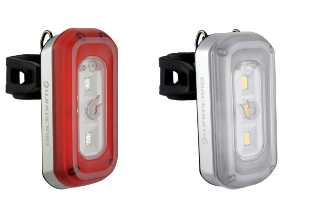Small LED lights, like these Blackburn lights, are lightweight and easy to attach
