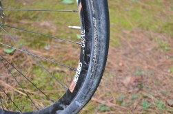The Stan's Grail rim is so wide, that the 28mm tires look more like 30's