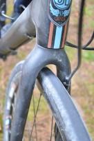 Carbon fiber fork has massive tire clearance