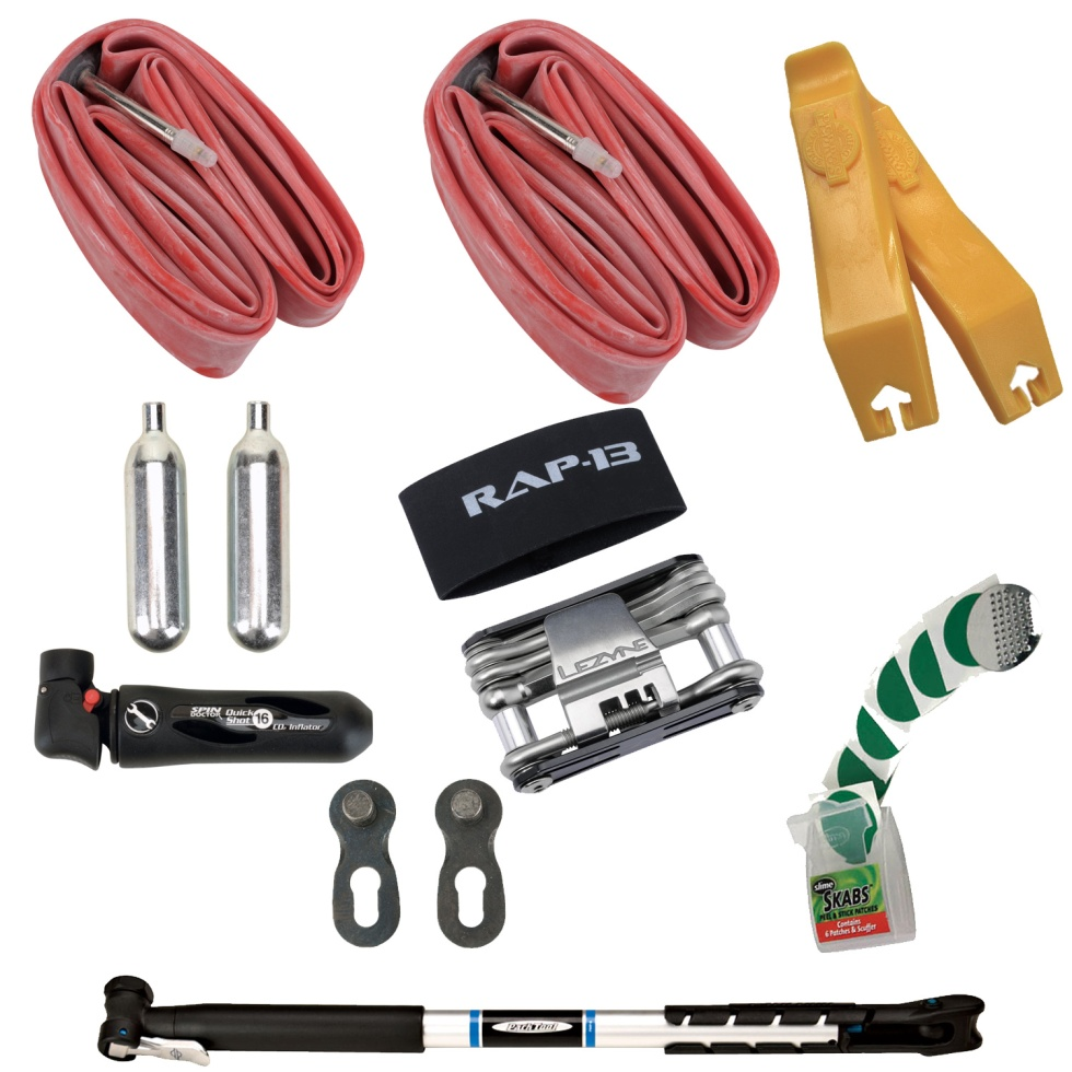 A full repair kit is a must for fall riding