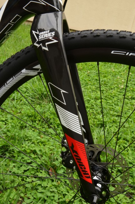 Fork arms feature internal brake cable routing
