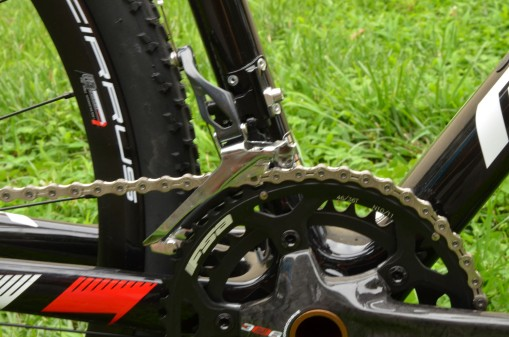 The new Shimano front derailleurs have a bigger lever arm for improved shifting