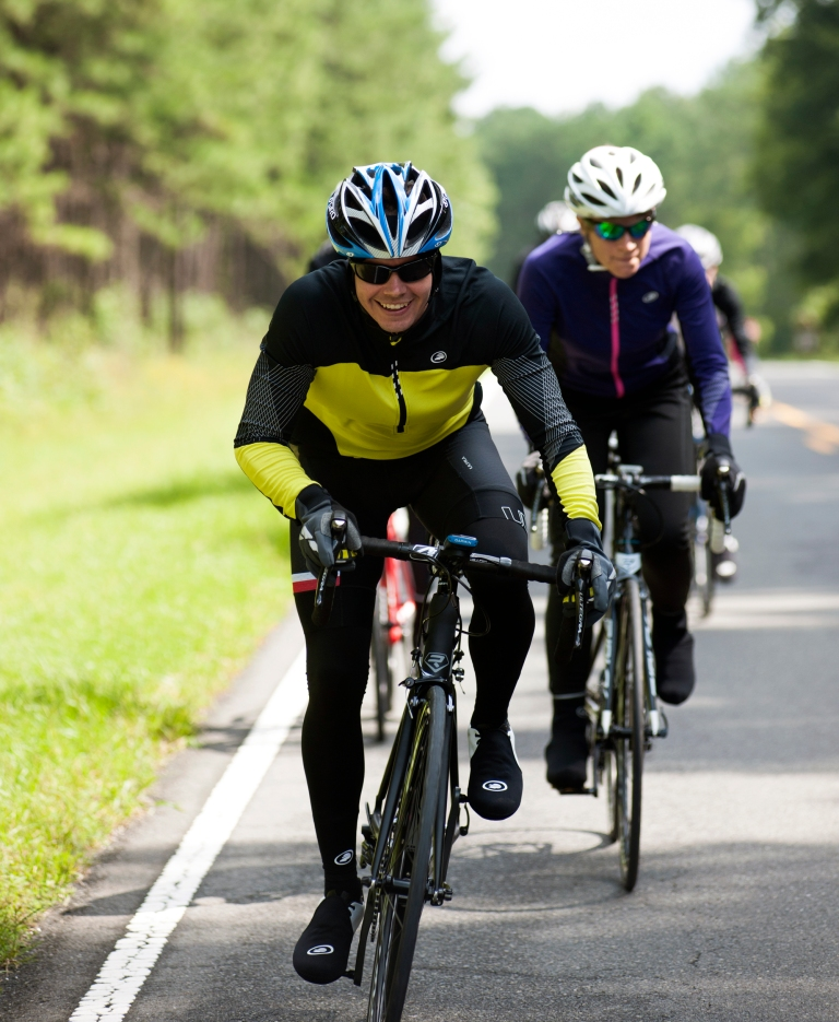 Riding a few hard intervals is a great way to get your body temperature back up