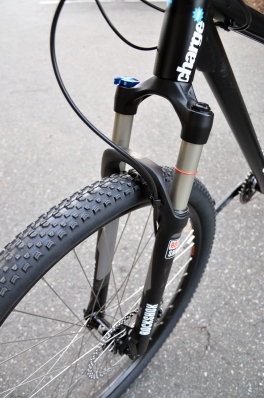 The Rock Shox fork helps smooth out the trail