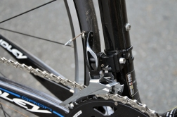 105 5800 front derailleur with the longer pivot arm for more precise from shifting