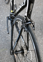 Shaped seatstays improve the ride quality