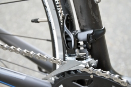 The new 105 group features a redesigned front derailleur for easier, smoother shifting