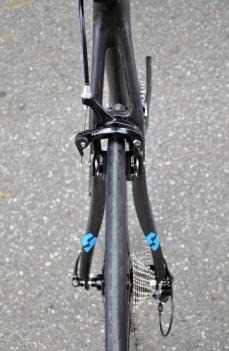 Sculpted seatstays help the bike feel more comfortable