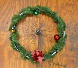 Step 4: Decorate your bike wheel wreath