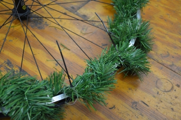 Step 2B: Secure the garland with zip ties as needed