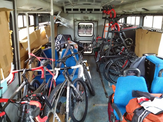 The inside of the Van Dessel Mobile. We're already scheming about how we can get one of these...or at least some of the bikes